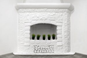 fireplace painted