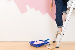 painting a wall pink