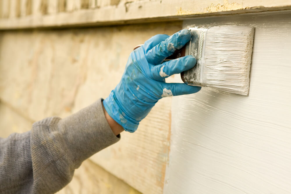 painting a house white