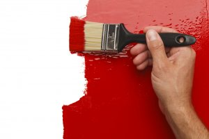 painting a wall red