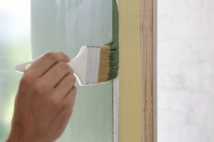 painting grey trim